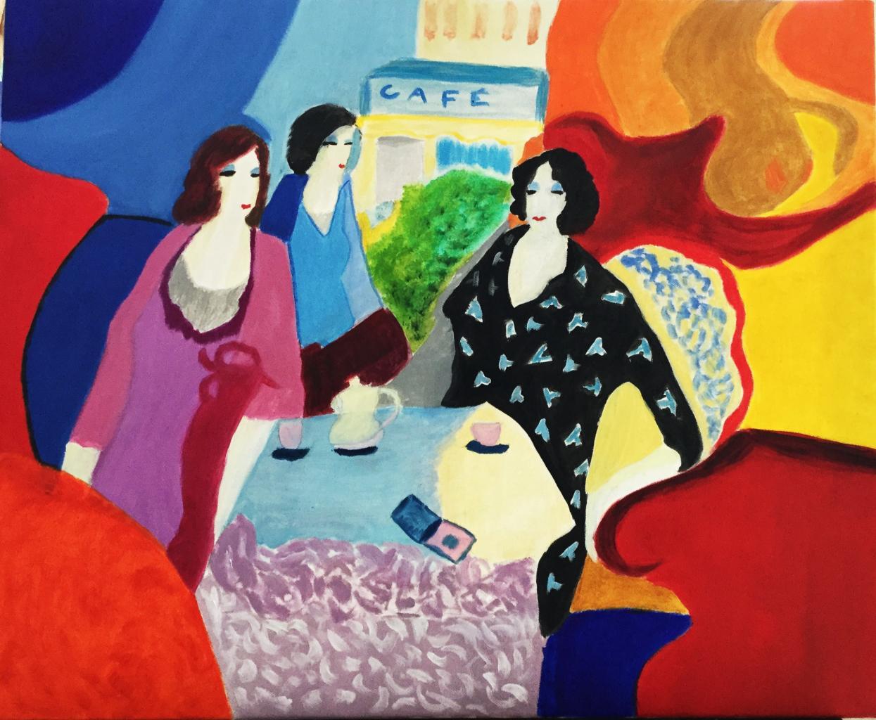 Femmes au salon de thé
