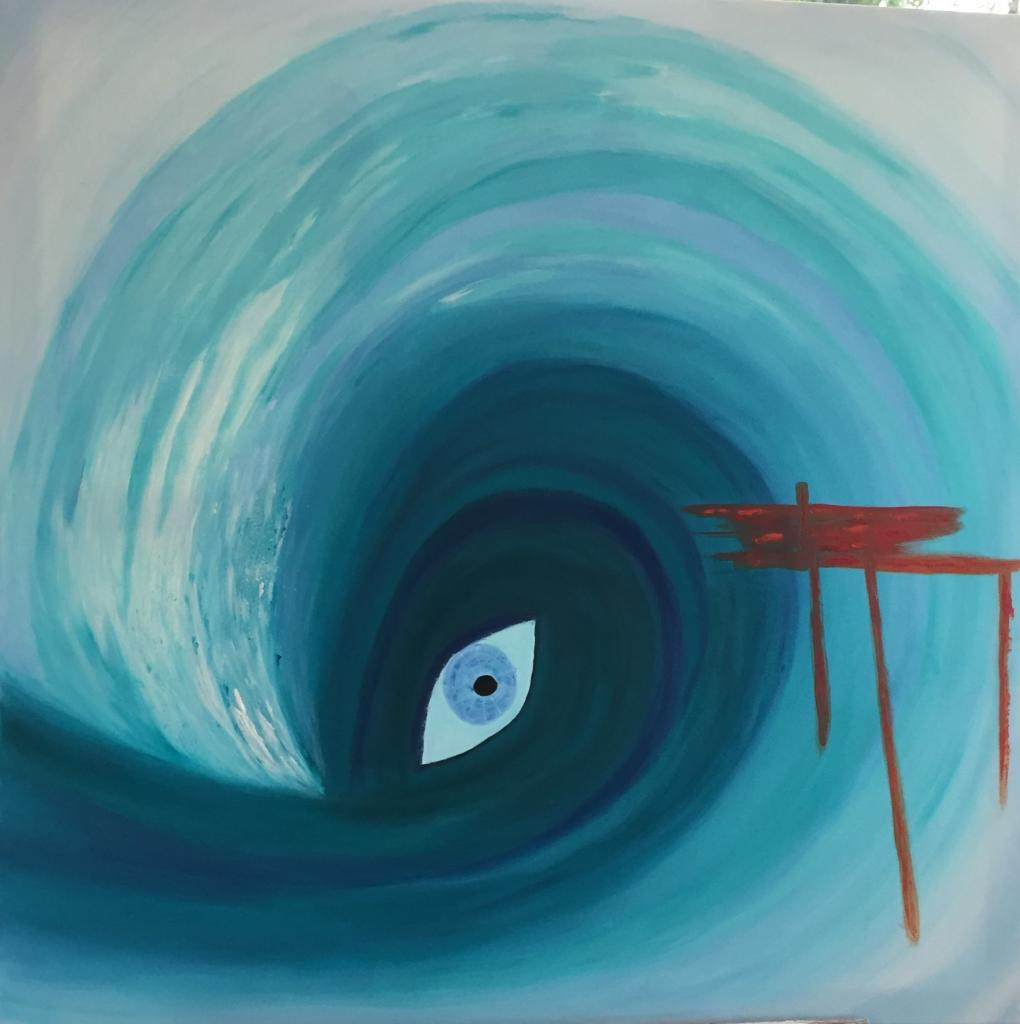 L'oeil dans la vague