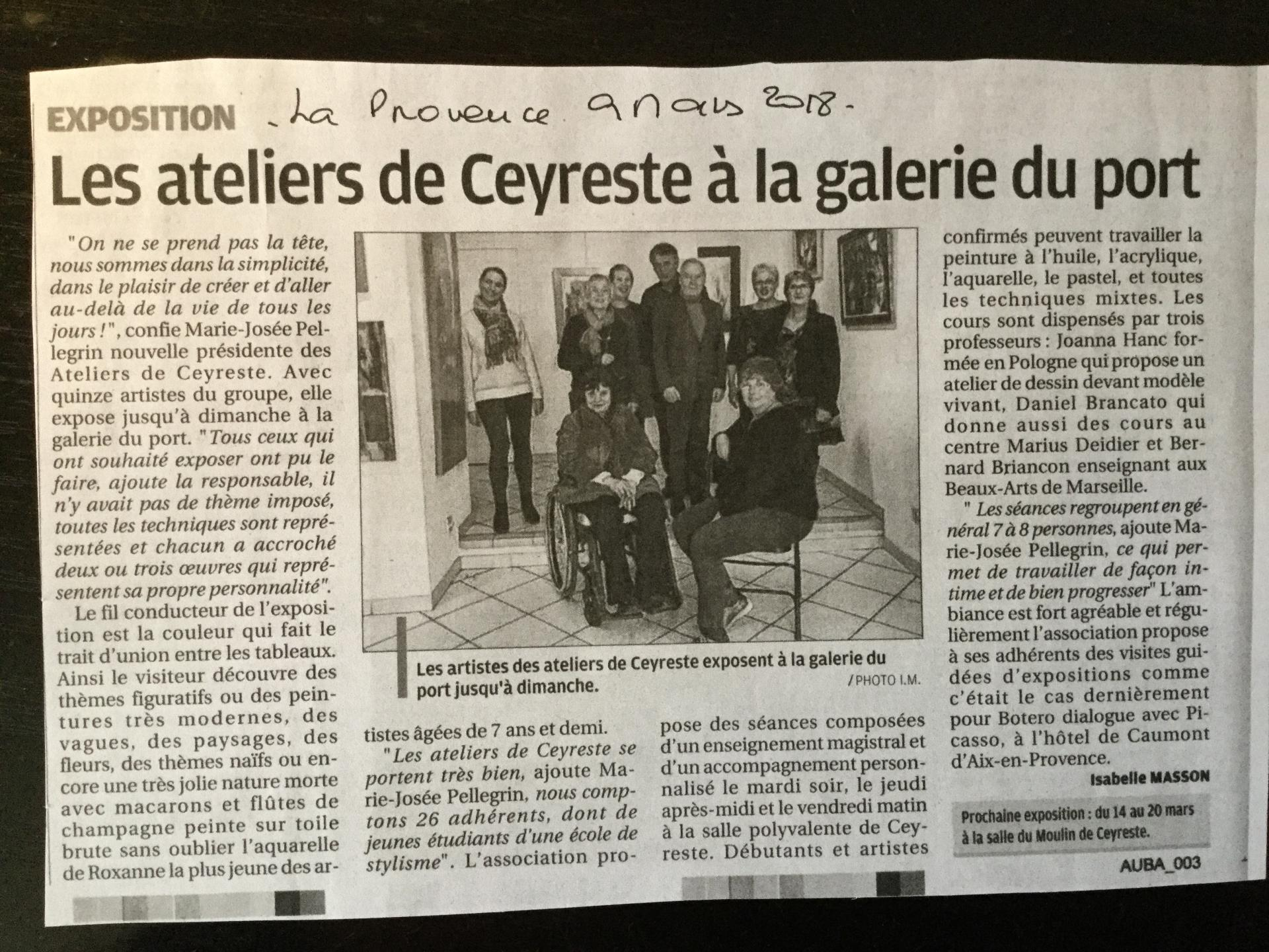 Article provence 9 mars